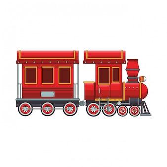 Vagão de trem vazio e cabine