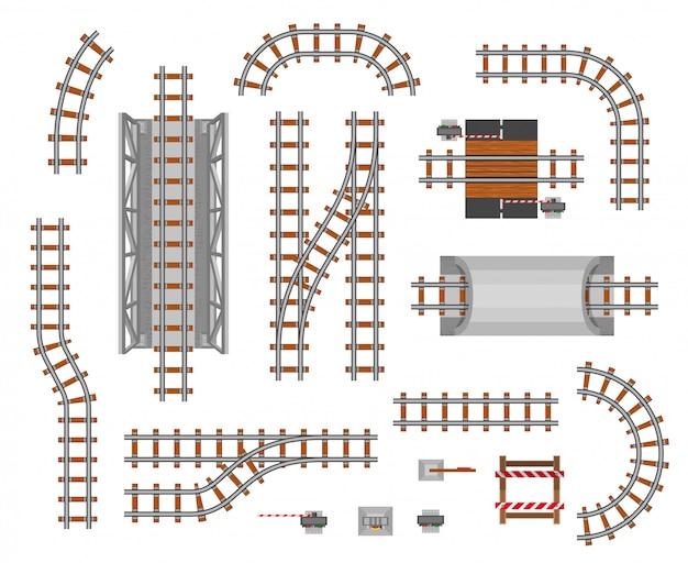 Vagão e plataforma ferroviária