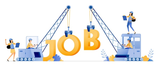 Vagas de emprego para o setor de construção e imobiliário.