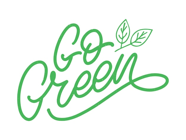 Vai rotulação de escova verde, frase inspiradora.