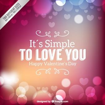 Valentim românticos fundo dia em grande estilo bokeh