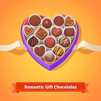 Valentine chocolates in box