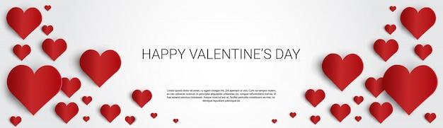 Valentine day gift card forma de coração de amor de férias