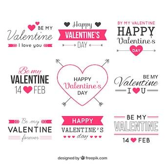 Valentine elementos de design vector