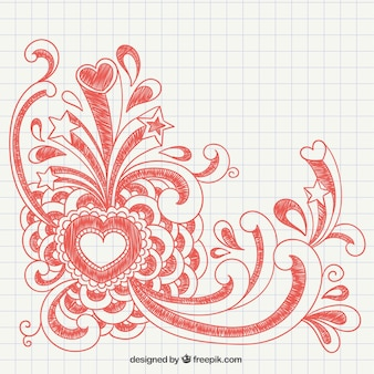 Valentine mão desenhada
