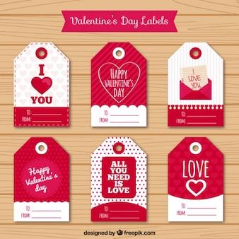 Valentines pacote de etiquetas dia