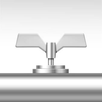Válvula de tubo de vetor isolada no branco