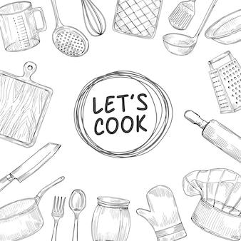 Vamos cozinhar ilustração
