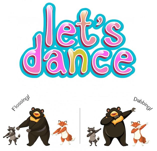 Vamos dançar o conceito de animais