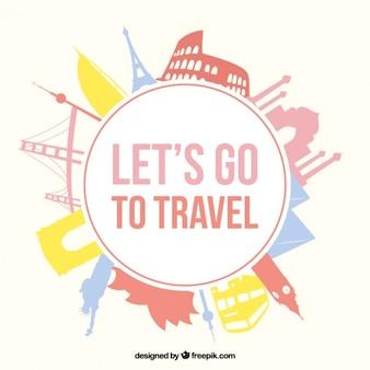 Vamos emblema de viagens