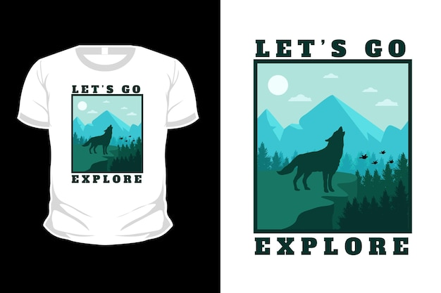 Vamos explorar o design de camisetas com ilustração plana