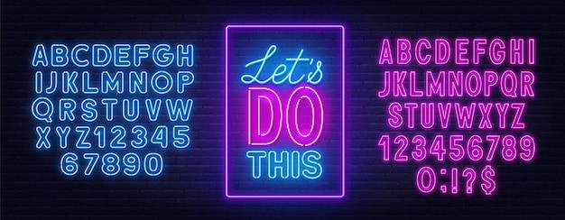 Vamos fazer essa citação de néon em uma parede de tijolos.