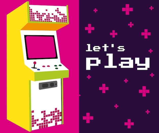 Vamos jogar arcade colorido