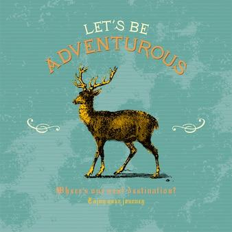 Vamos ser vetor de design de logotipo aventureiro