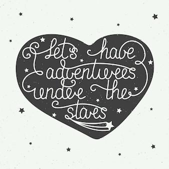 Vamos ter aventuras sob as estrelas