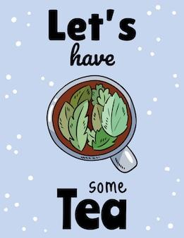 Vamos tomar um chá