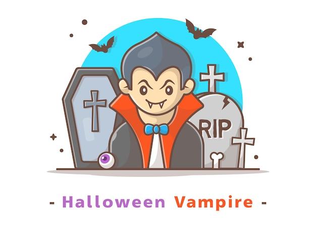 Vampiro do dia das bruxas