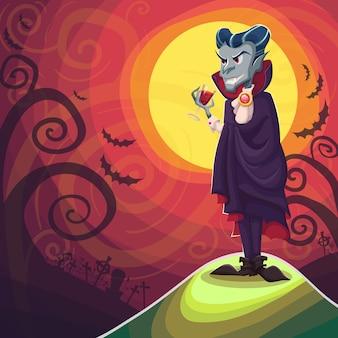 Vampiro drácula para o halloween
