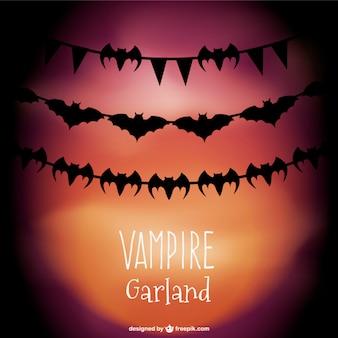 Vampiro guirlandas vector