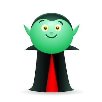 Vampiro sorridente, vestindo capa