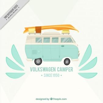 Van e surf, fundo