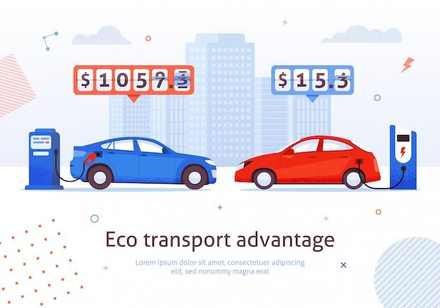 Vantagem do transporte ecológico.