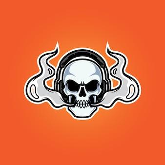 Vape streamers head mascot logo