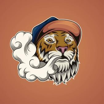 Vaping tiger