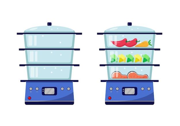 Vaporizador vazio e vaporizador com comida