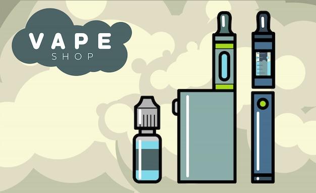 Vaporizadores de cigarros eletrônicos com líquido