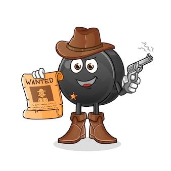 Vaqueiro de frutas tâmaras segurando uma arma