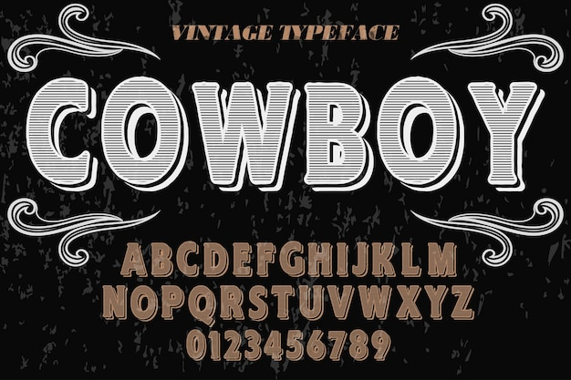 Vaqueiro do alfabeto
