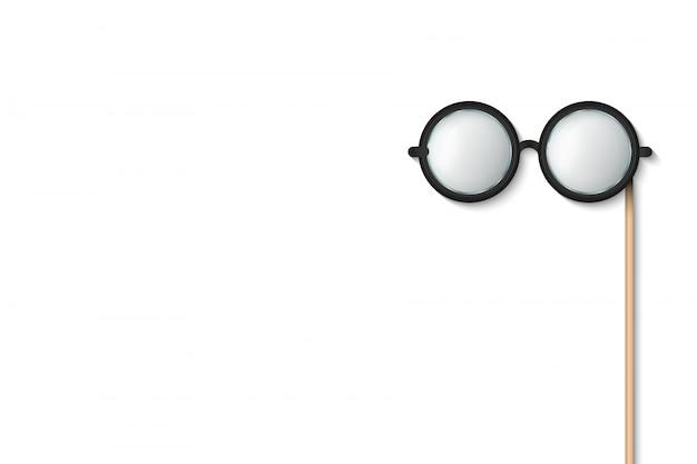 Vara de óculos, adereços de photobooth de óculos.