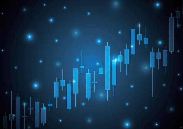 Vara de vela do mercado de ações bulish