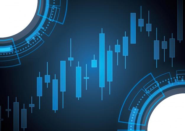 Vara de vela do mercado de ações em alta