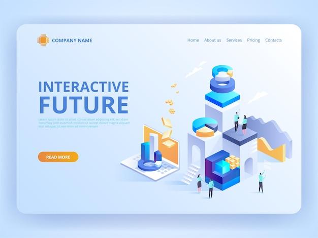Varejo e estilo de vida de inovação futura interativa