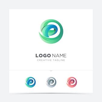 Variação criativa abstrata do logotipo da letra d