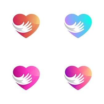 Variação do logotipo da cor do coração