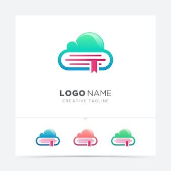 Variação do logotipo do livro em nuvem