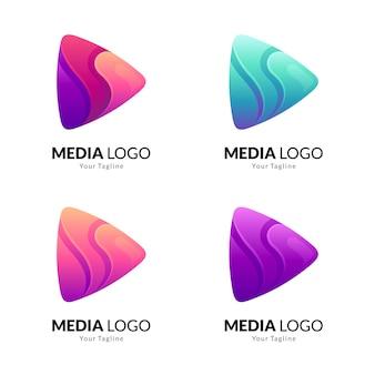 Variação do logotipo do media play