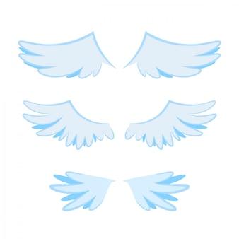 Várias asas em design plano