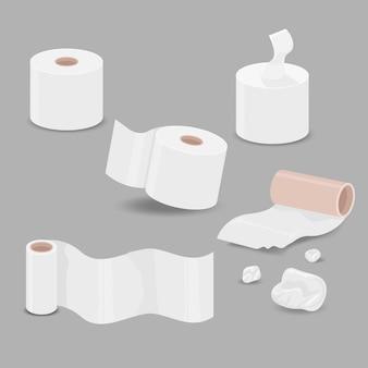 Várias características do papel de seda