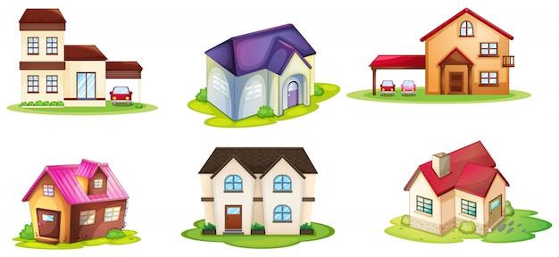 Várias casas