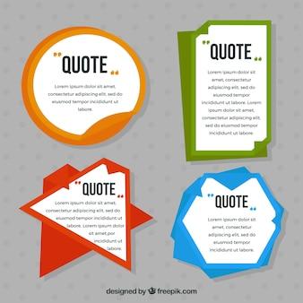 Várias citações adesivos