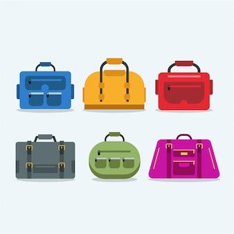 Várias cores de saco de viagem de mão cheia