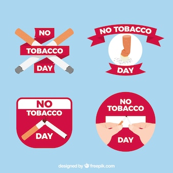 Várias etiquetas anti-fumo
