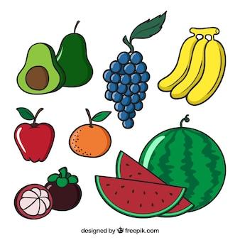 Várias frutas saborosas