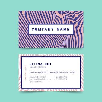 Várias linhas distorcidas cartões de visita