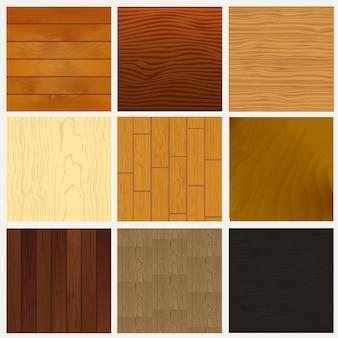 Várias superfícies de textura de madeira. fundo de produtos de madeira