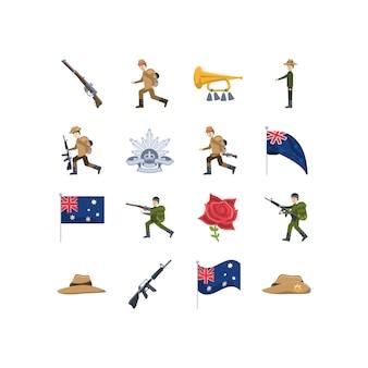 Variedade austrália conjunto de ícones